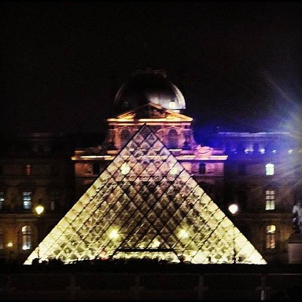 Sky Photograph - #mgmarts #louvre #paris #france #europe by Marianna Mills
