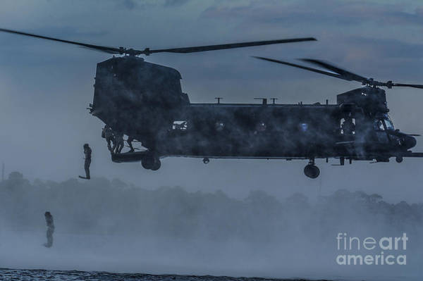 Sow Photograph - Mh-47 Chinook Helicopter  by Celestial Images