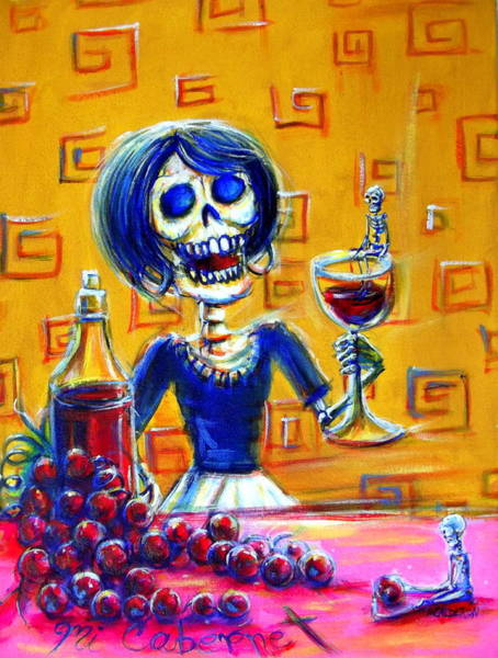 Tasting Painting - Mi Cabernet by Heather Calderon