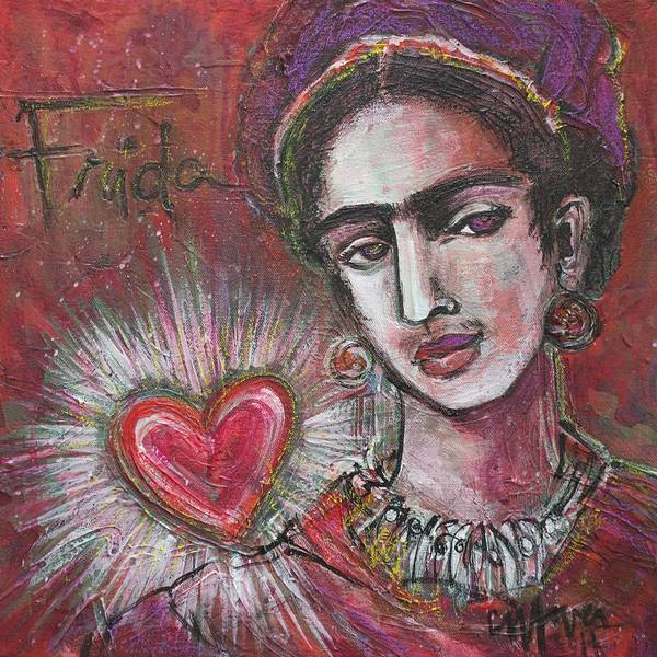 Painting - Mi Frida Y Mi Corazon by Laurie Maves ART