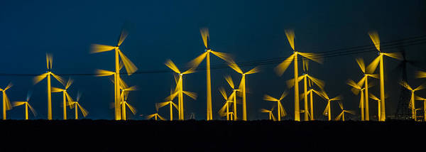 Wall Art - Photograph - Mi3 Wind Turbines 3 by Scott Campbell