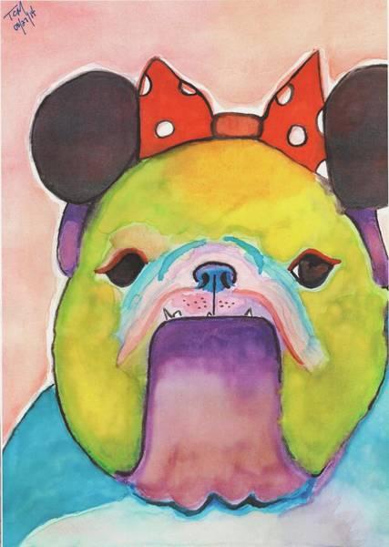 English Bulldog Painting - Maya by Kat Meza