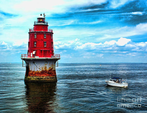 Photograph - Miah Maull Shoal Lighthouse by Nick Zelinsky