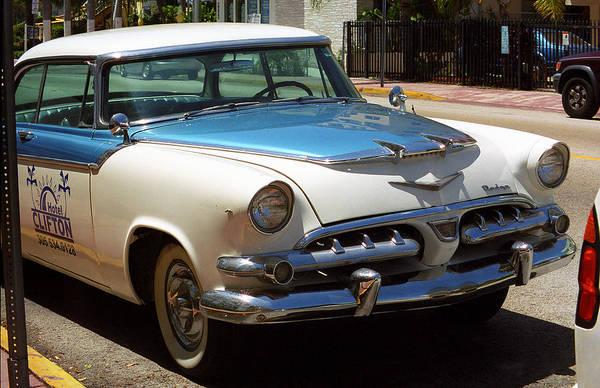 Photograph - Miami Beach Classic Car 2 by Frank Romeo