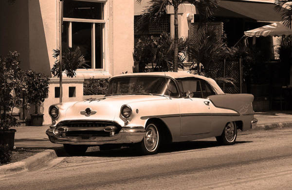 Photograph - Miami Beach Classic Car 7 by Frank Romeo