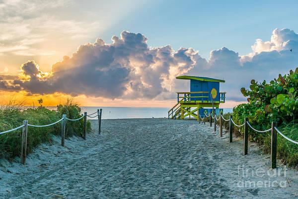 Wall Art - Photograph - Miami Beach Entrance Sunrise  by Ian Monk
