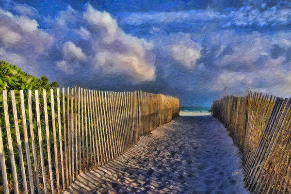 Painting - Miami Beach Fence by Dean Wittle