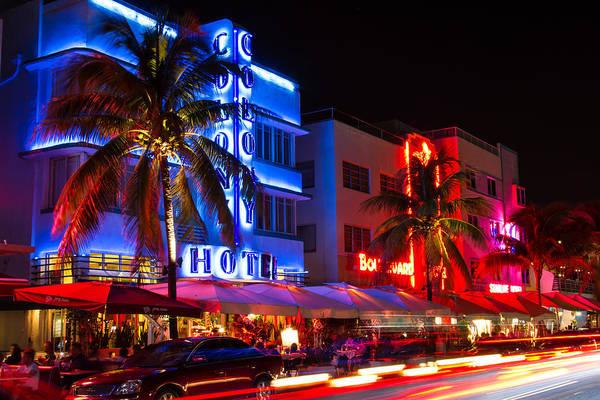 Miami Beach Ocean Drive Art Print