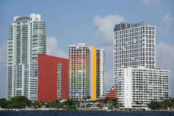 Photograph - Miami Brickell Avenue Waterfront  by Bradford Martin