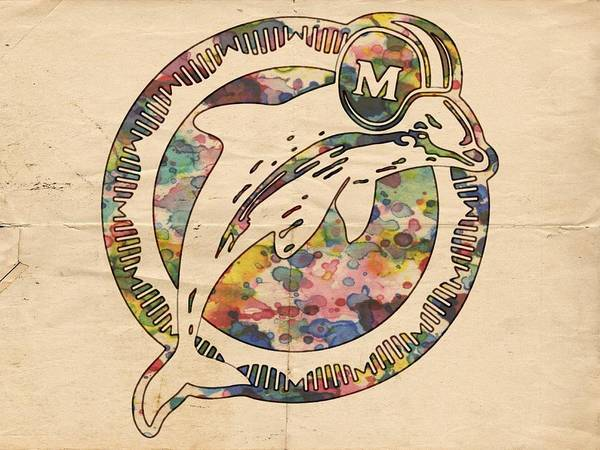 Painting - Miami Dolphins Poster Art by Florian Rodarte