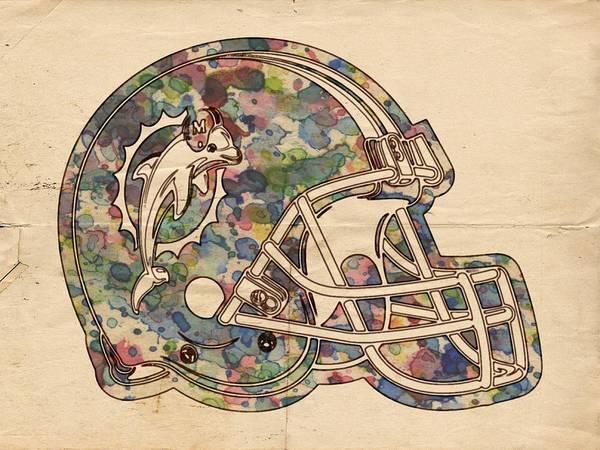 Painting - Miami Dolphins Vintage Art by Florian Rodarte