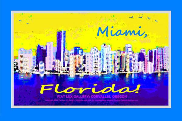 Miami-dade Digital Art - Miami Florida by Michael Moore