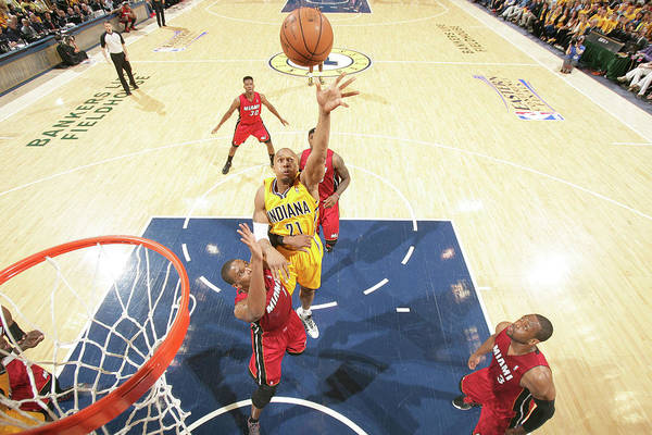 Playoffs Photograph - Miami Heat V Indiana Pacers - Eastern by Nathaniel S. Butler