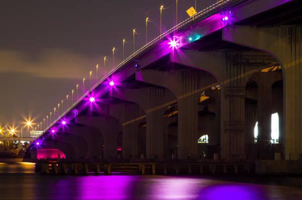 Miami Macarthur Causeway Bridge Art Print