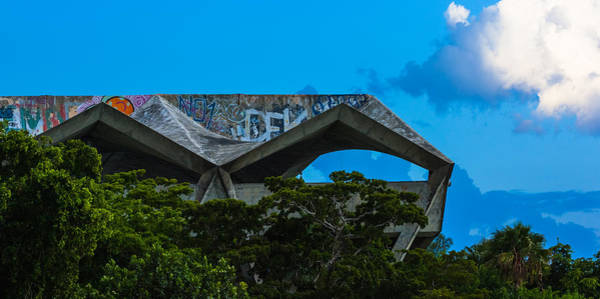 Photograph - Miami Marine Stadium by Ed Gleichman