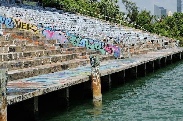 Photograph - Miami Marine Stadium-graffiti by Bradford Martin