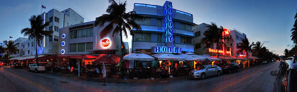 Photograph - Miami - Ocean Drive Pano 001 by Lance Vaughn