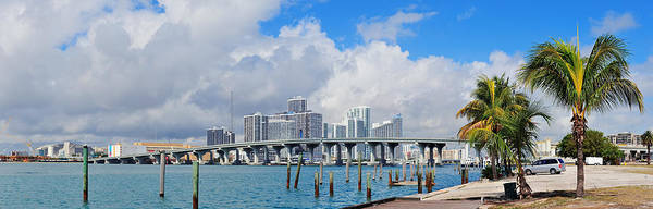 Photograph - Miami Panorama by Songquan Deng