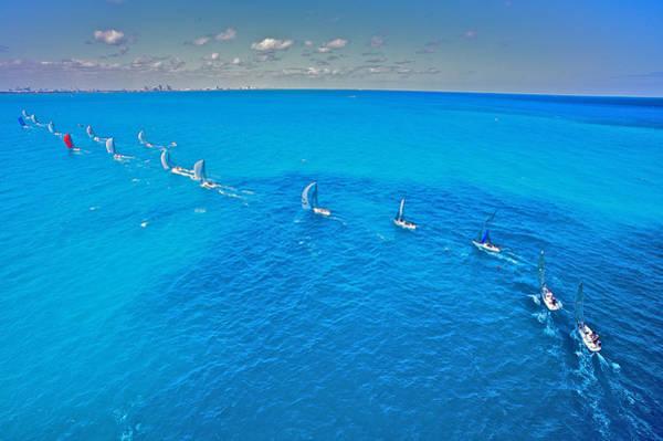 Photograph - Miami Regatta Skyline by Steven Lapkin