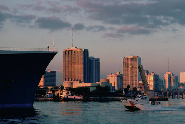 Wall Art - Photograph - Miami Skyline And Port Area by Jose Azel