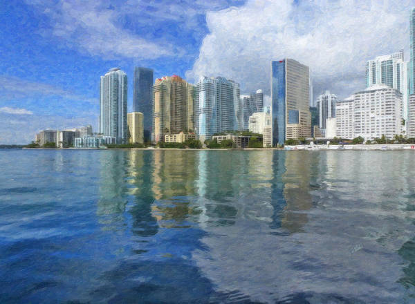 Painting - Miami Skyline by Dean Wittle