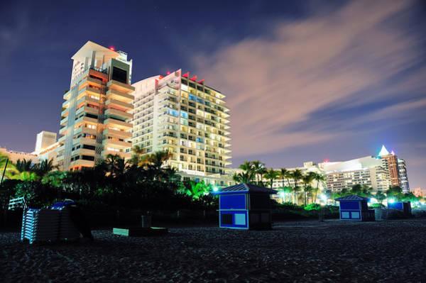 Photograph - Miami South Beach At Night by Songquan Deng