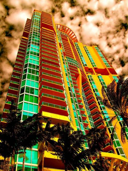 Photograph - Miami South Pointe II Highrise by Monique Wegmueller