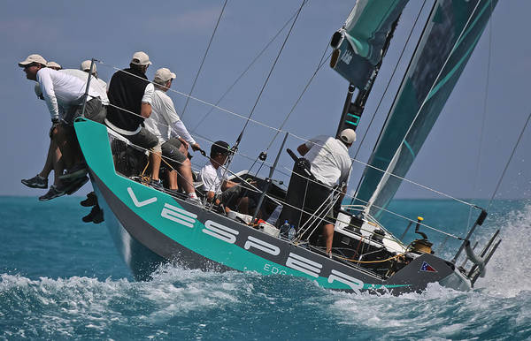Photograph - Miami Tp52 Regatta Vesper by Steven Lapkin