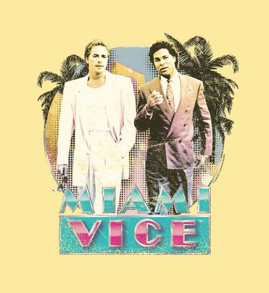 Wall Art - Digital Art - Miami Vice - 80's Love by Brand A