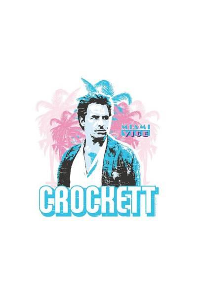 Wall Art - Digital Art - Miami Vice - Crockett by Brand A