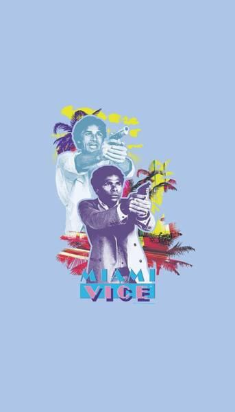 Wall Art - Digital Art - Miami Vice - Freeze by Brand A