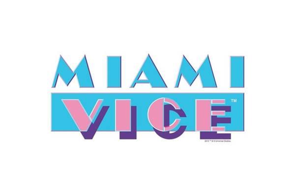 Wall Art - Digital Art - Miami Vice - Logo by Brand A