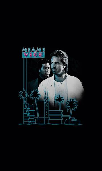 Wall Art - Digital Art - Miami Vice - Looking Out by Brand A