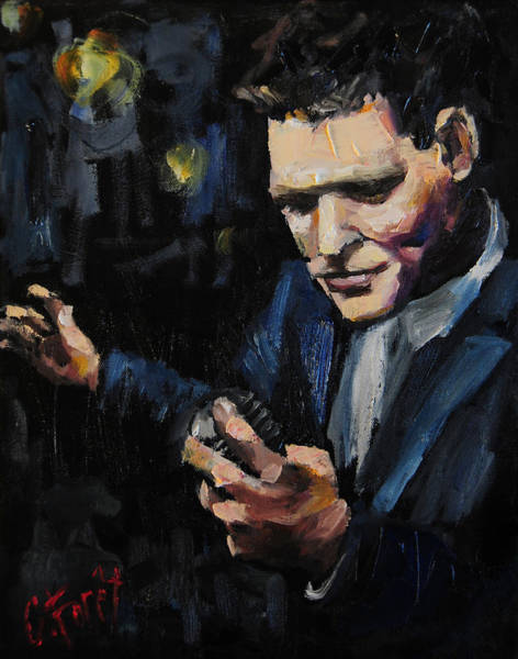 Opera Singer Painting - Michael Buble by Carole Foret