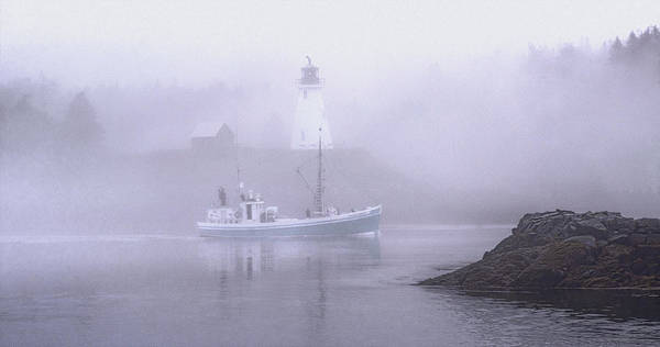 Mulholland Photograph - Michael Eileen Passing Thru Lubec Narrows by Marty Saccone
