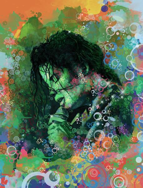 Wall Art - Painting - Michael Jackson 15 by Bekim M
