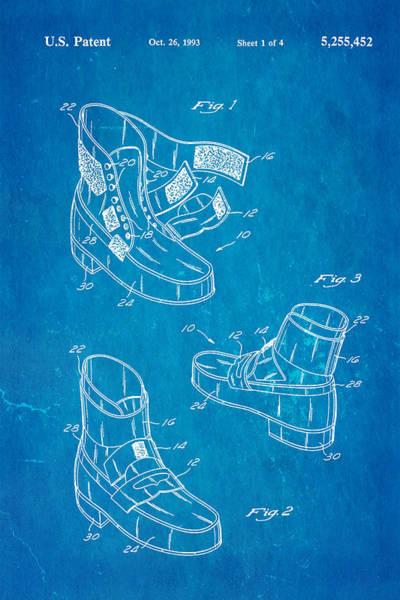 Michael Jackson Photograph - Michael Jackson Anti Gravity Boot Patent Art 1993 Blueprint by Ian Monk