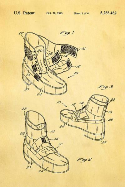 Michael Jackson Photograph - Michael Jackson Anti Gravity Boot Patent Art 1993 by Ian Monk