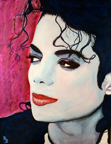 Painting - Michael Jackson Art - Full Color by Bob Baker