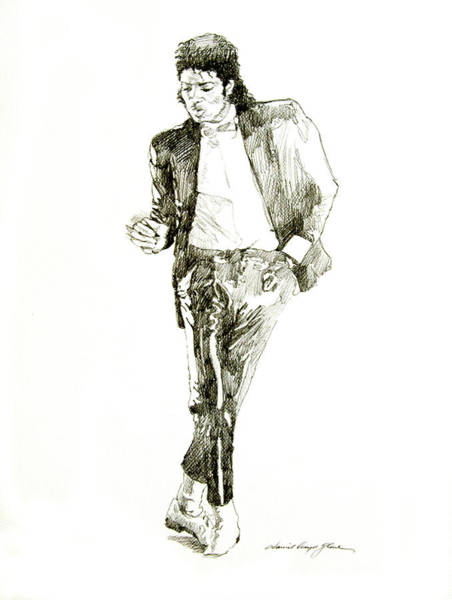 Attractive Drawing - Michael Jackson Billy Jean by David Lloyd Glover