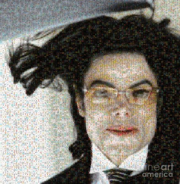 Digital Art - Michael Jackson - Fly Away Hair Mosaic by Paulette B Wright