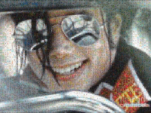 Digital Art - Michael Jackson - Mosaic by Paulette B Wright