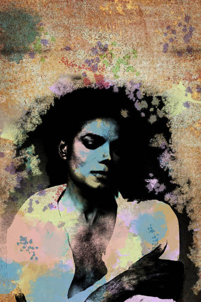 Digital Art - Michael Jackson - Scatter Watercolor by Paulette B Wright