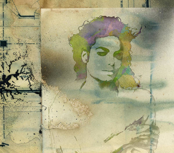 Digital Art - Michael Jackson Silhouette by Paulette B Wright