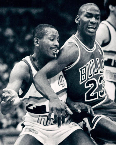Chicago Bulls Photograph - Michael Jordan Trying To Get Position by Retro Images Archive