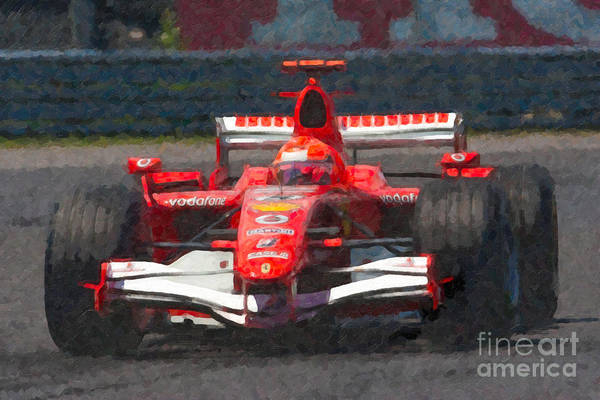 Impasto Photograph - Michael Schumacher Canadian Grand Prix I by Clarence Holmes