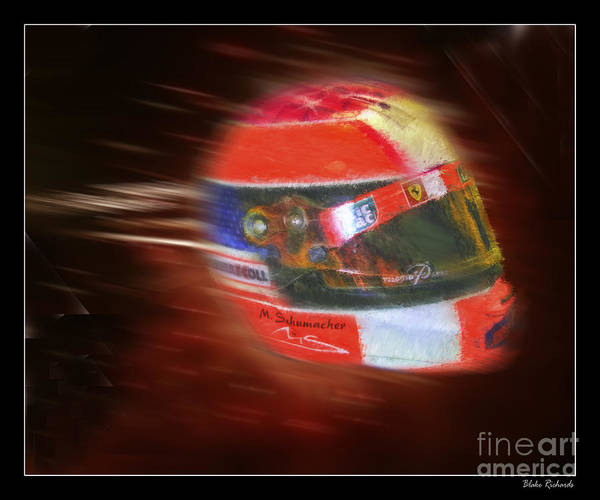 Photograph - Michael Schumacher Helmet by Blake Richards