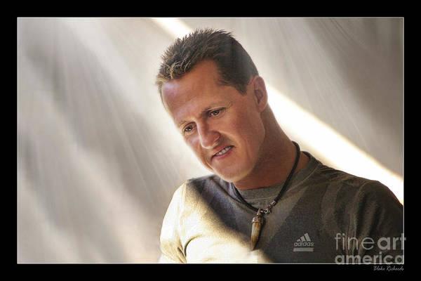 Photograph - Michael Schumacher The Legend by Blake Richards