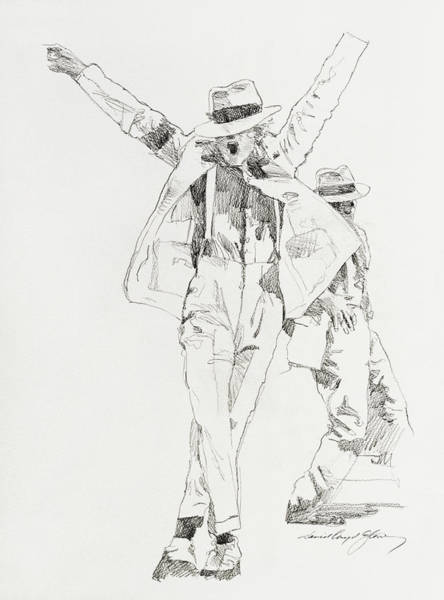 Drawing - Michael Smooth Criminal by David Lloyd Glover