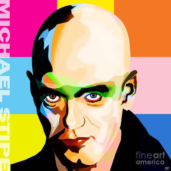 Revolting Digital Art - Michael Stipe Rem Big by Neil Finnemore